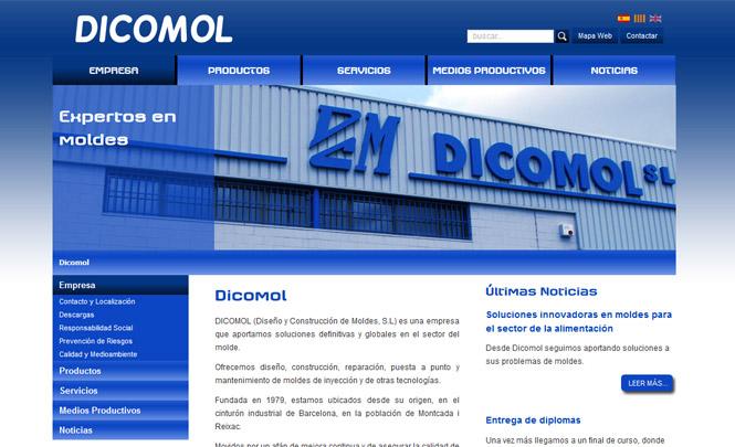 Presentación web Dicomol hecha por Endeos