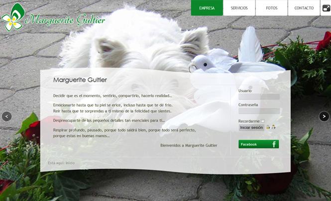 Presentación web Marguerite Gultier