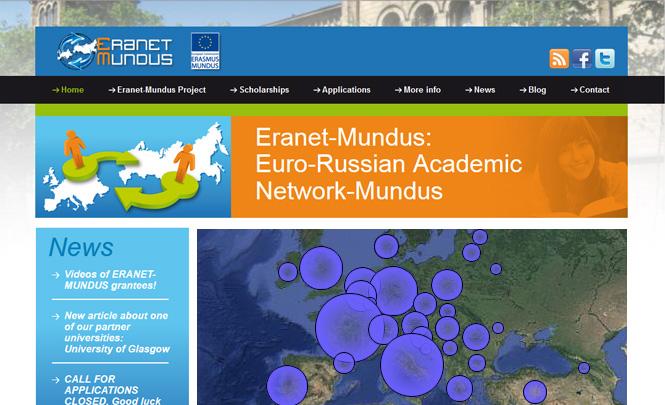 Presentación web Eranet Mundus