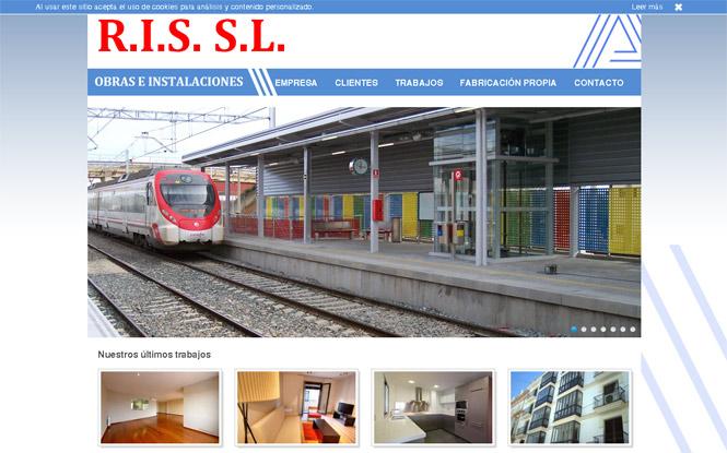 Presentación web Ris Obras