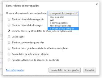 Opciones Chrome