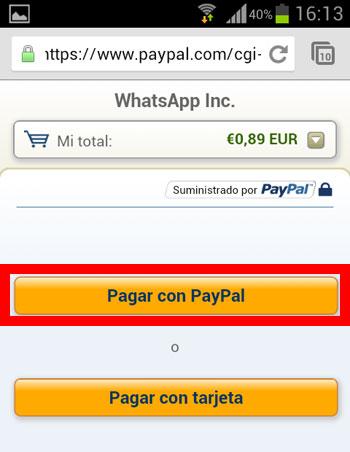Paso 3 pagar Paypal
