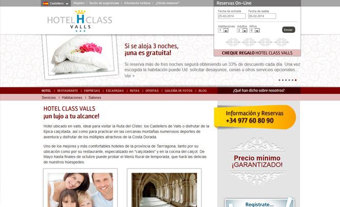 Presentación web Hotel Class Valls
