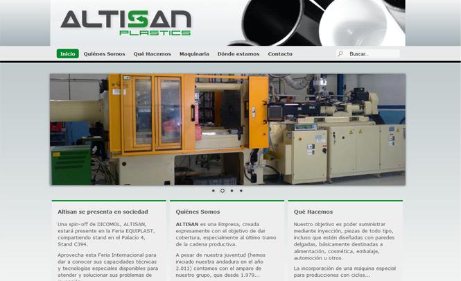 Presentación web Altisan