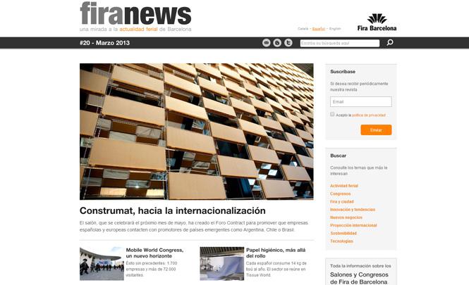 Presentación web Fira News