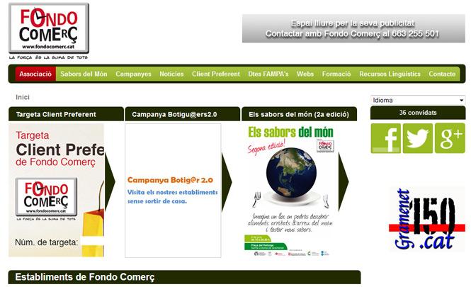 Presentación web Fondo Comerç