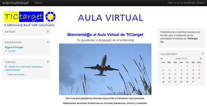 Aula virtual de Moodle