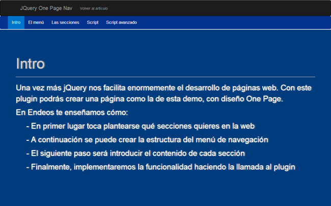 Crea tu web con diseño One Page