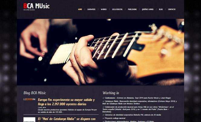 Presentación web BCA MUsic