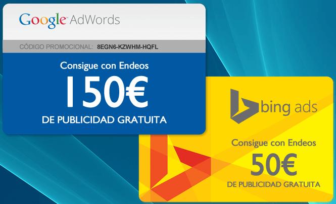 Pack cupones AdWords y Bing Ads