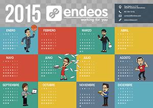Calendario 2015 Endeos colores pastel