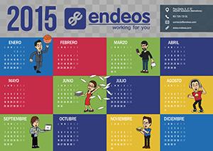Calendario 2015 Endeos colores vivos