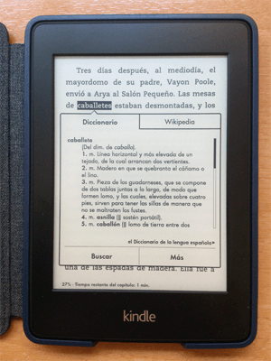 Diccionario de Kindle Paperwhite