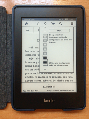 Iluminación de Kindle Paperwhite