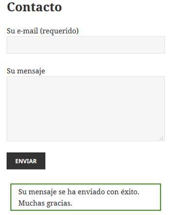 Contact Form 7 Mover mensaje confirmación