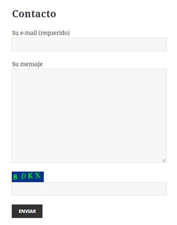 Confirgurar Captcha en contact form 7