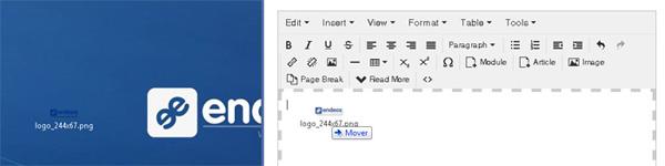 Joomla 3.5 - Imágenes Drag&Drop