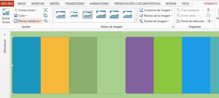 Color transparente en PowerPoint