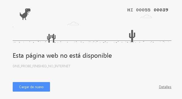 Saltando cactus en Chrome