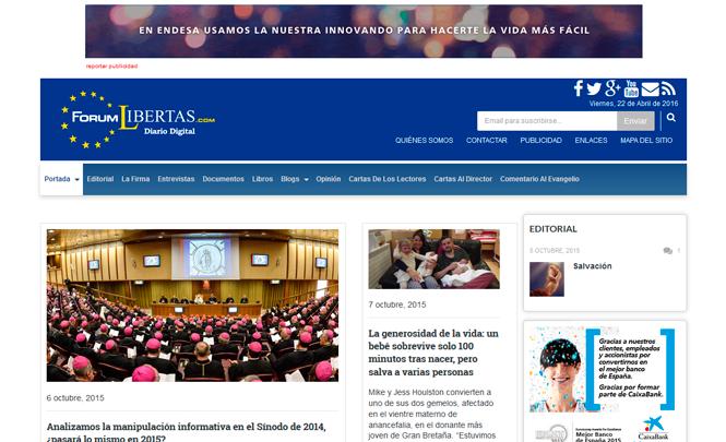 Presentación web Forum Libertas