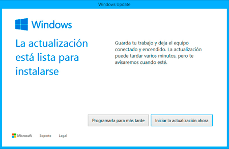 Windows 10 listo para instalarse
