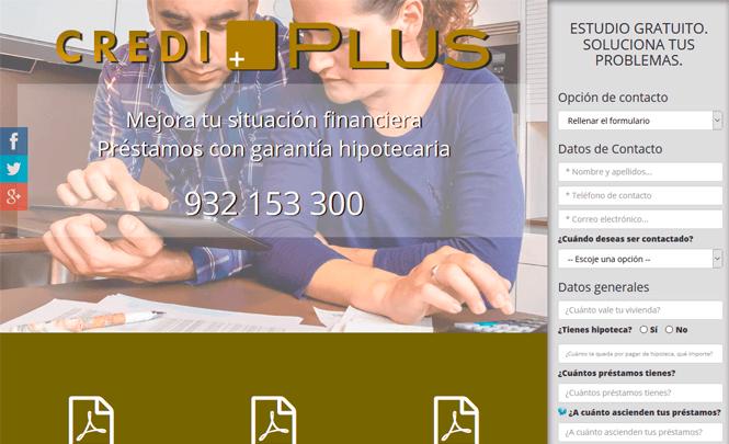 Presentación web Credi Plus
