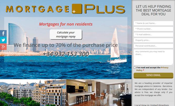 Presentación web Mortgage Spain