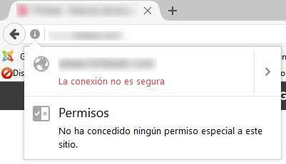 Sitio no seguro en Firefox