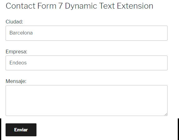 Variables concatenadas campos formulario