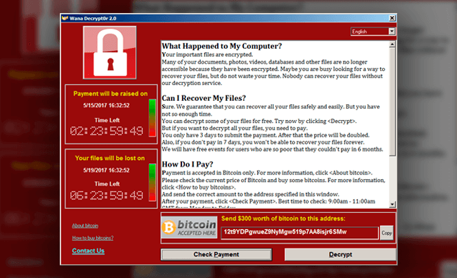 Ransomware WannaCryptor