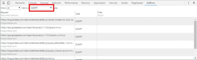 AdBlock para bloquear js
