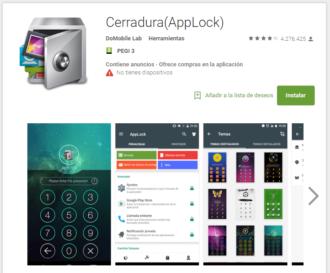 Contraseña para aplicaciones Android con AppLock