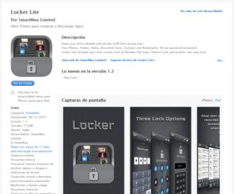 Contraseña para aplicaciones iOS con Locker Lite