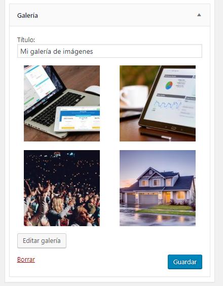 Nuevo widget galería de imágenes