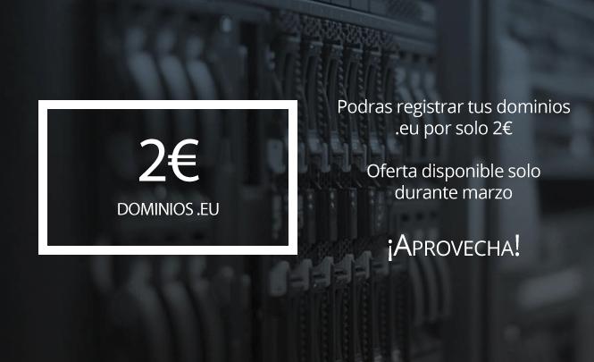 Registra tu dominio .eu por solo 2€