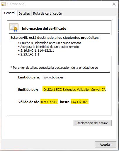 Comprobar certificado SSL