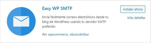 Instalación del plugin Easy WP SMTP